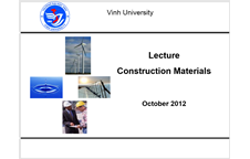 Lecture - Construction Materials